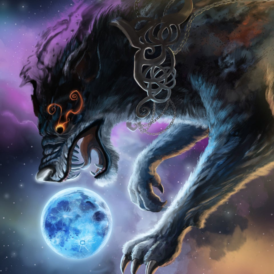 Hati Chasing the Moon