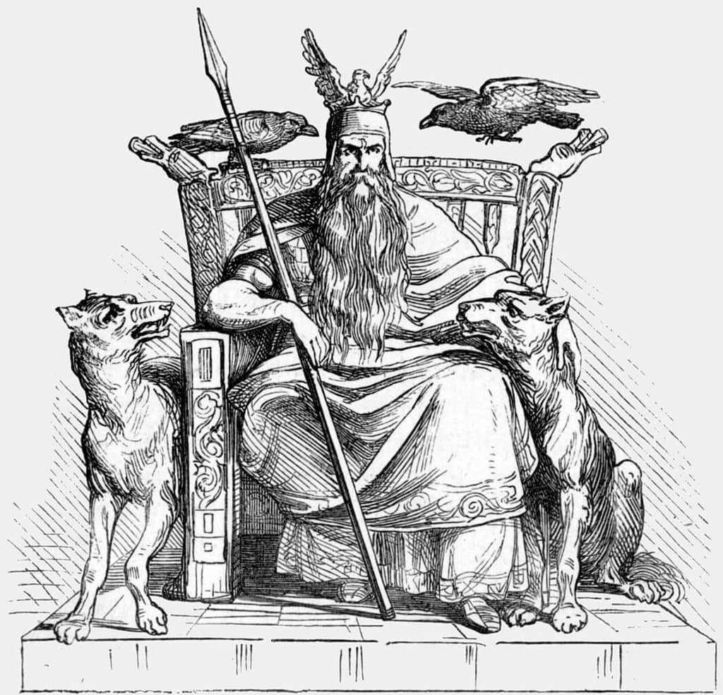 Odin and his companions