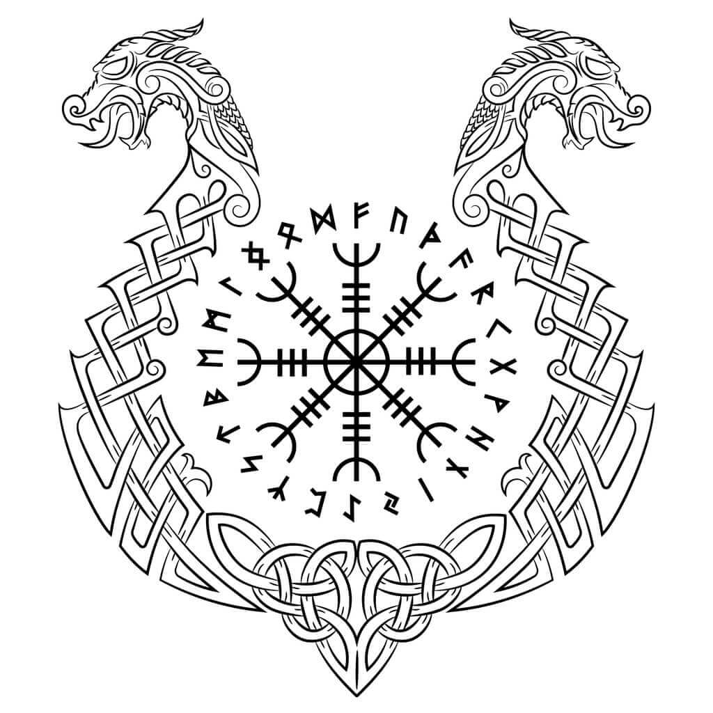 Helm of awe Norse symbol