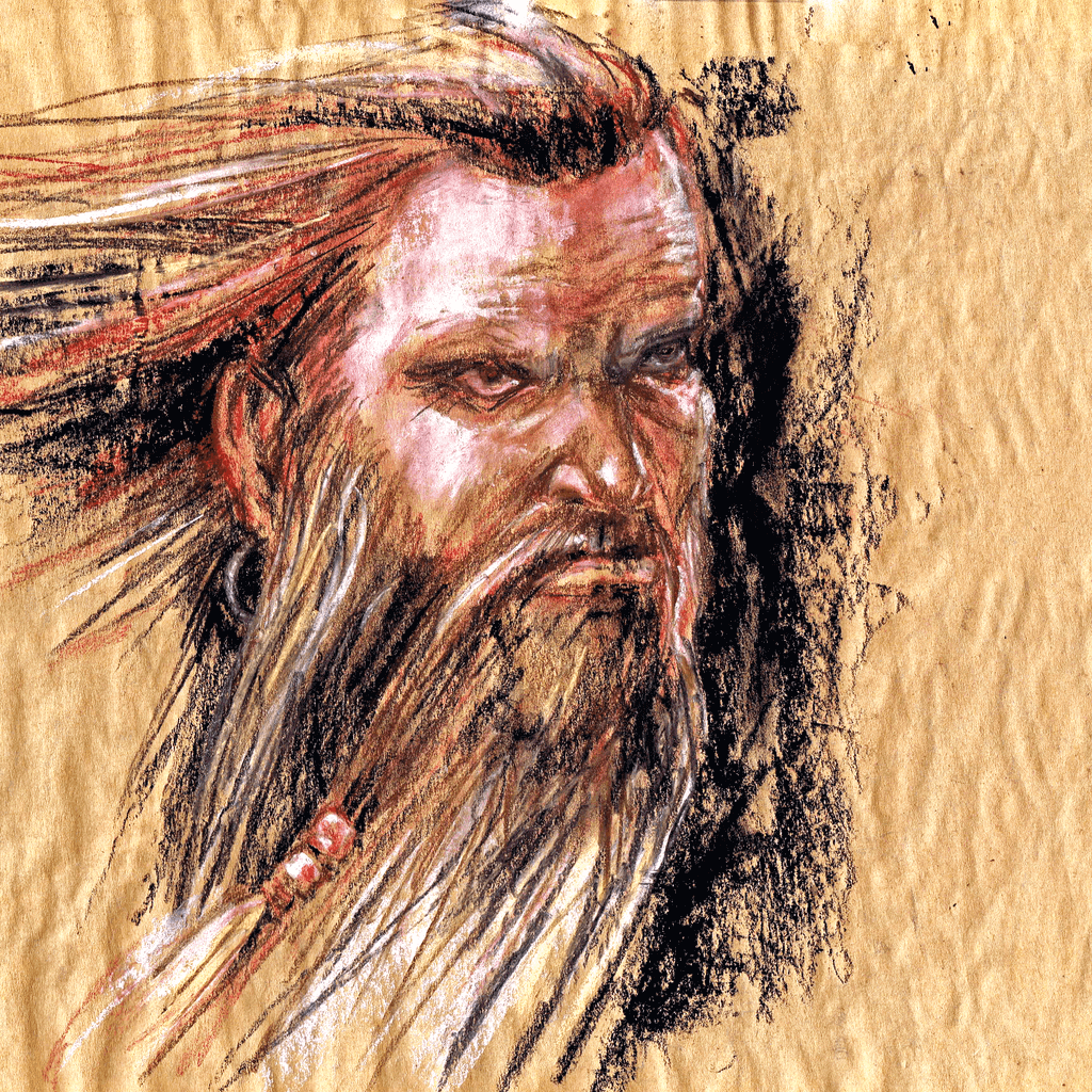 Portrait of the Norse God Tyr