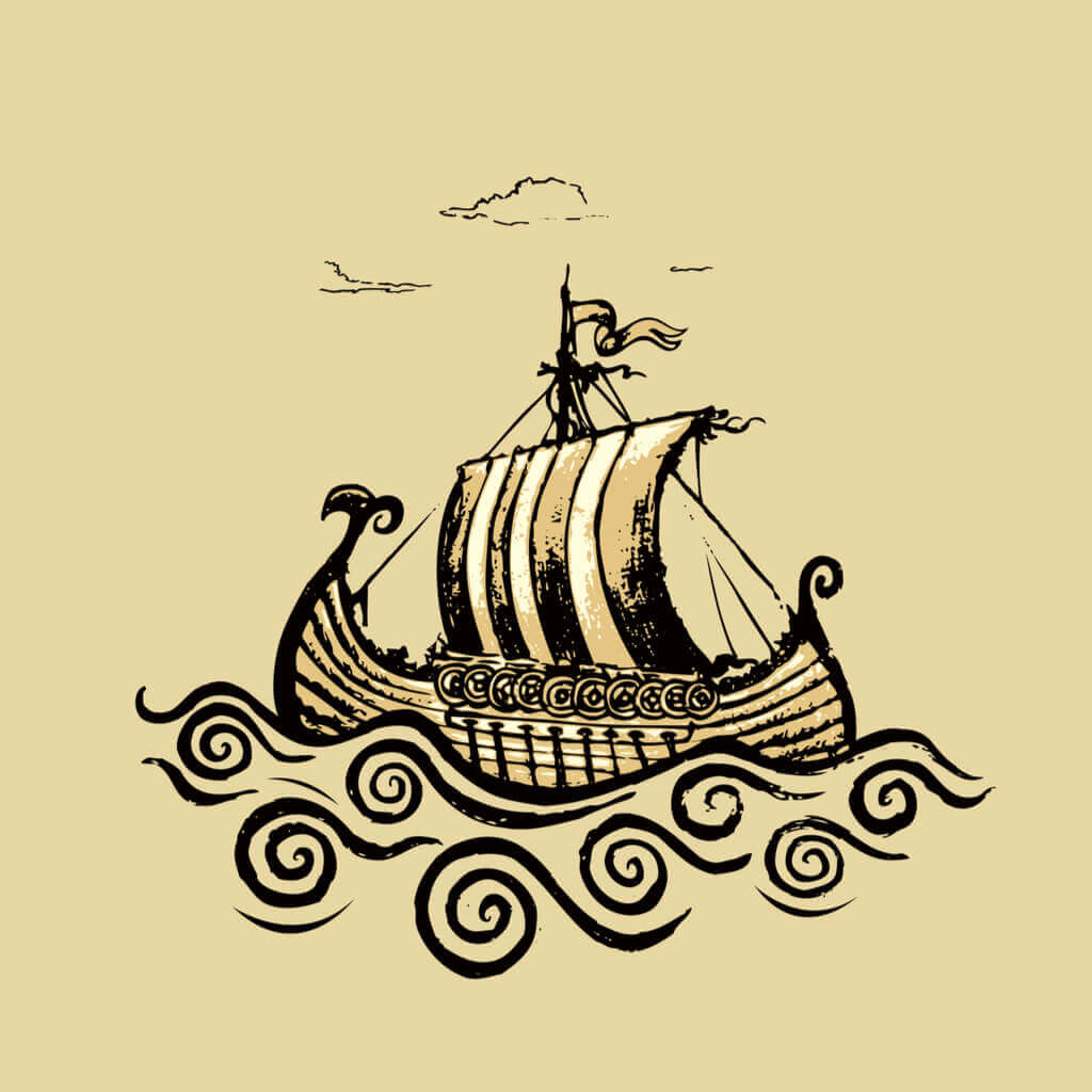 Longship Drawing - Norse Symbol of the Viking's Mentality