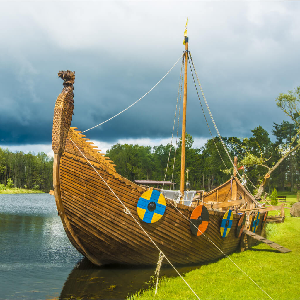 Viking ship used for trading