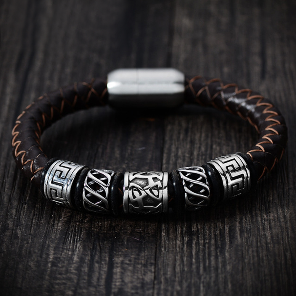 Viking Beads Genuine Leather Bracelet