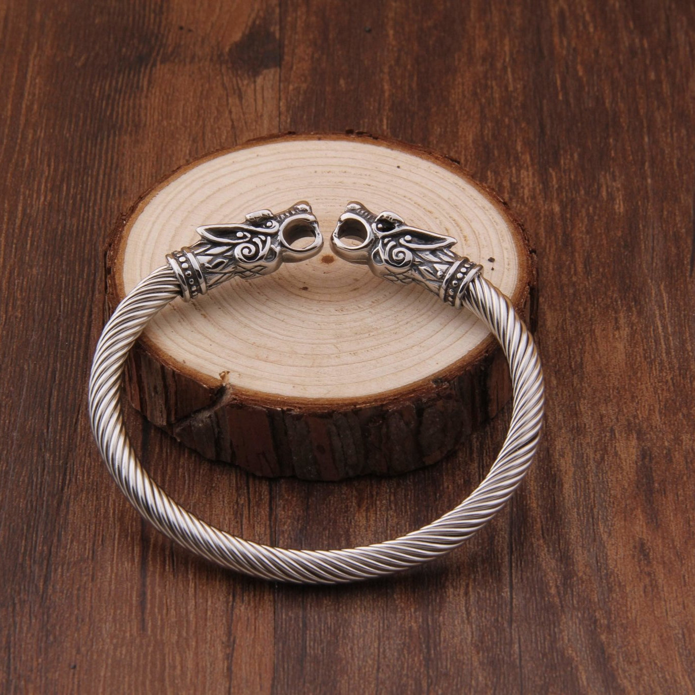 316L Stainless Steel Fenrir Adjustible Bracelet - VikingsBrand