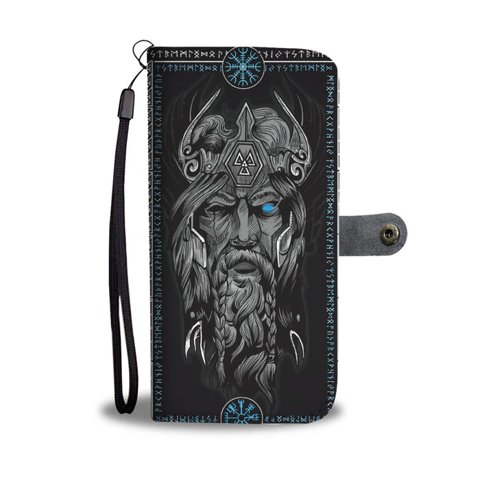Personalized Wallet Phone Case - Blue Eyed Odin