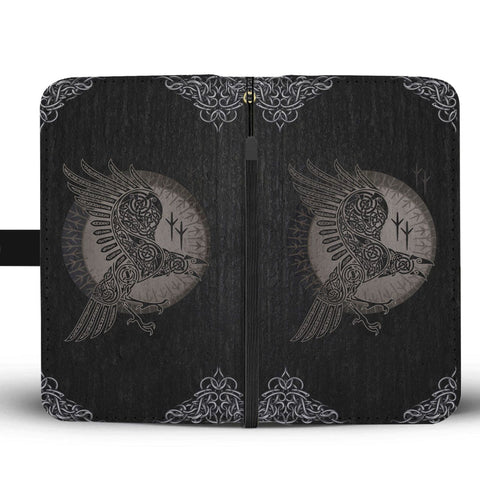Image of Odin's Raven Phone Wallet Case - VikingsBrand
