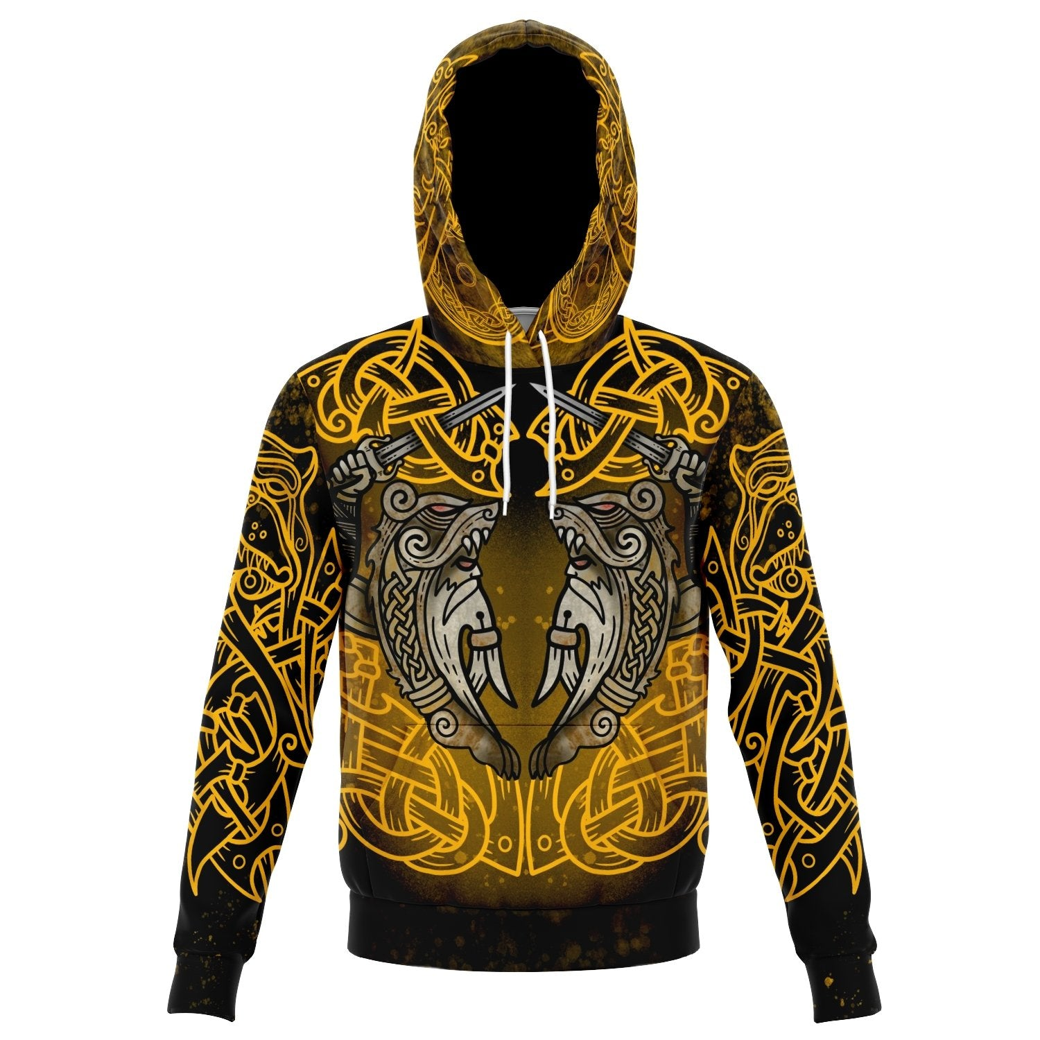 Berserker Warrior Cotton Hoodie - GOLD