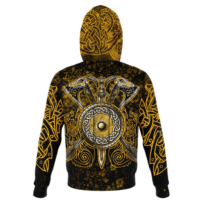 Berserker Warrior Cotton Hoodie - GOLD - VikingsBrand