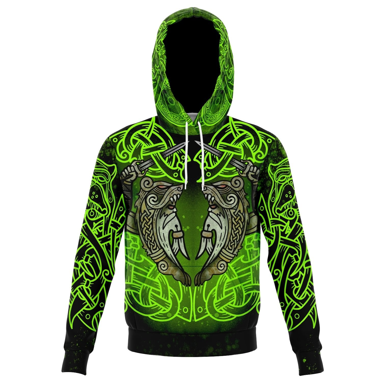 Berserker Warrior Cotton Hoodie - GREEN