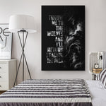 Black Wolf Viking Wall Art - Norse Home Decor