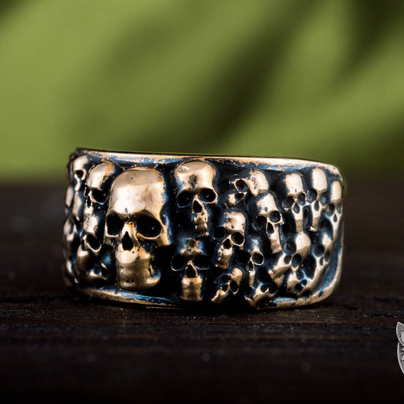 Bronze Ring with Skulls