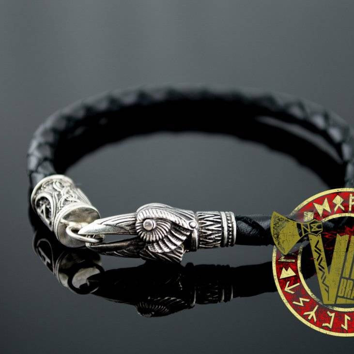 Crow Bracelet with Elder Futhark Rune