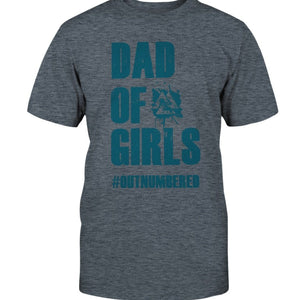 Dad of Girls Classic Cotton T-Shirt - Dark Green Text