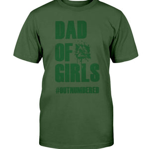 Dad of Girls Premium Fit T-Shirt - Green Text