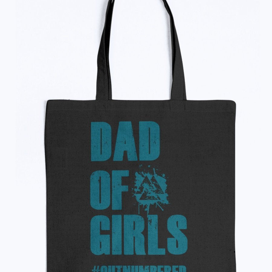 Dad of Girls Tote - Blue Text