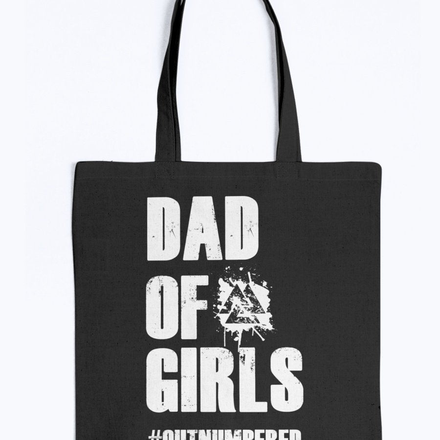 Dad of Girls Tote - White Text