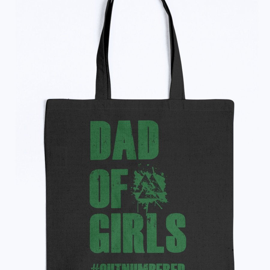 Dad of Girls Tote - Green Text