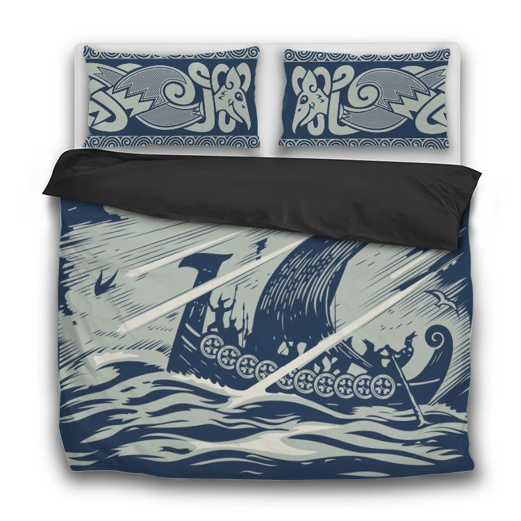 Drakkar Sailing - 3 Pcs Bedding Sets - VikingsBrand