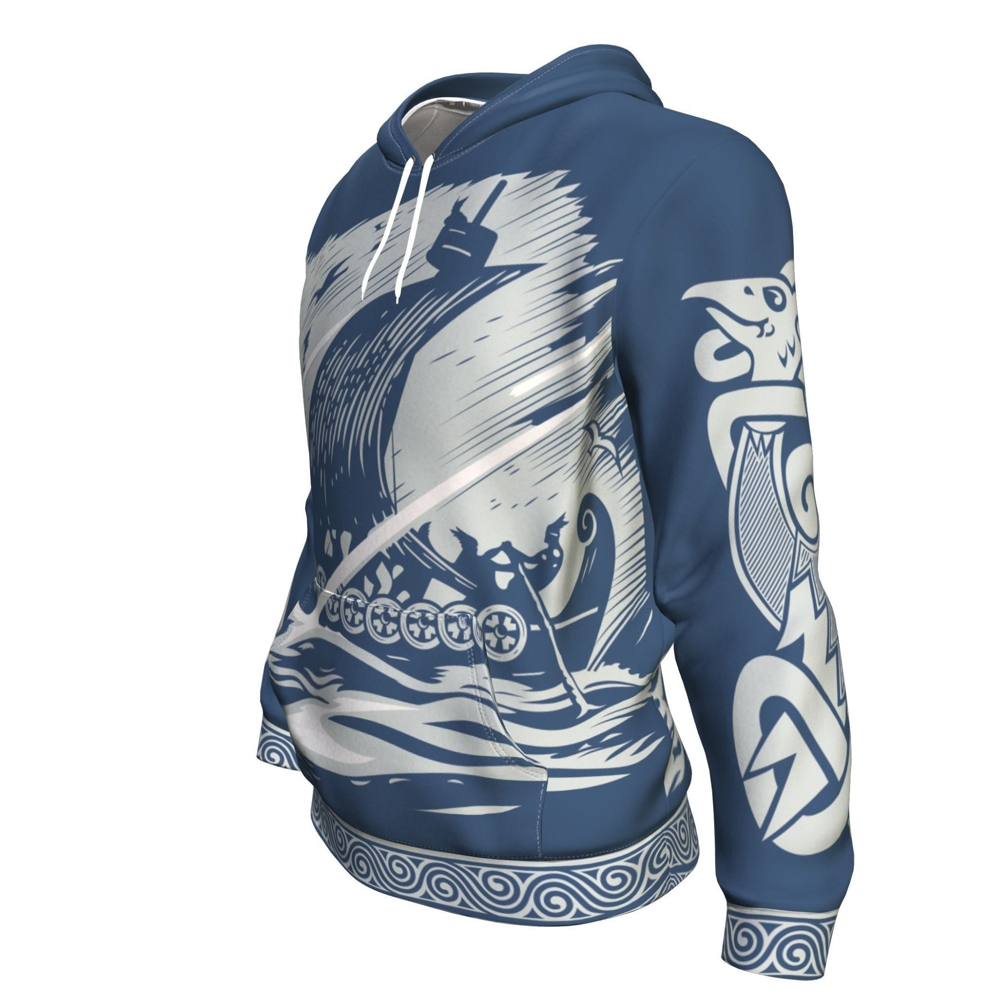 Drakkar Sailing with Viking Warriors Hoodie - VikingsBrand