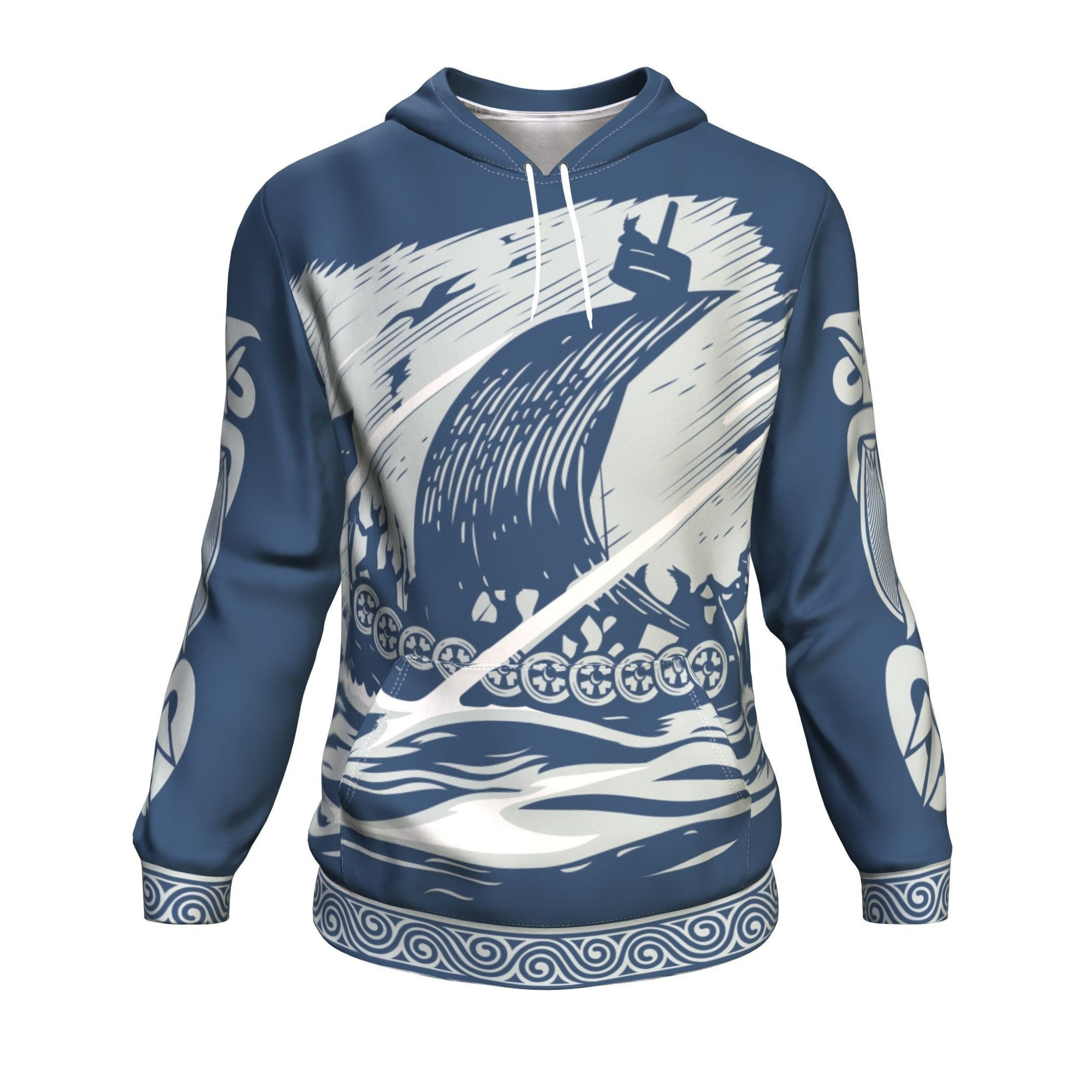 Drakkar Sailing with Viking Warriors Hoodie