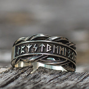 hand stamped personalized your message jewellery custom size viking runic sterling silver ring,find strength Elder Futhark,norse