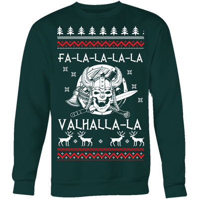 Fa - La - La Valhalla Holiday Sweater - VikingsBrand