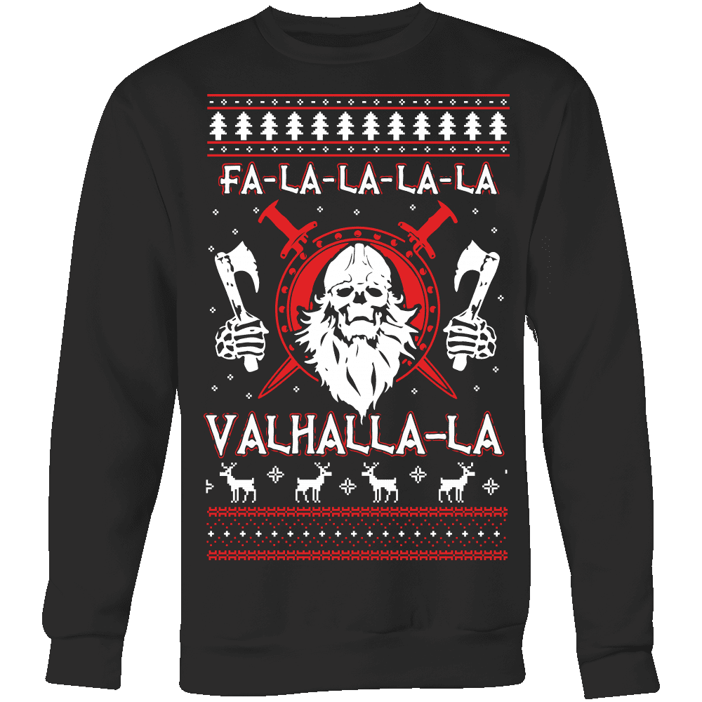 Fa - La - La Valhalla New Holiday Sweater - VikingsBrand