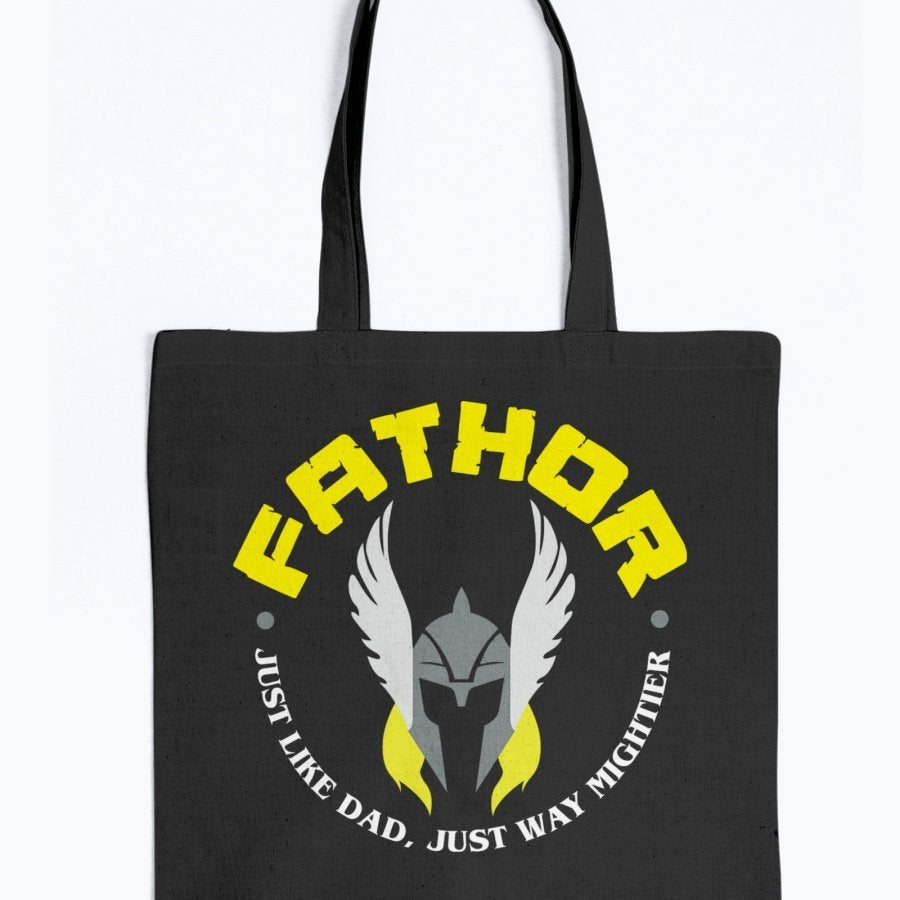 Fathor Tote - Yellow Wording