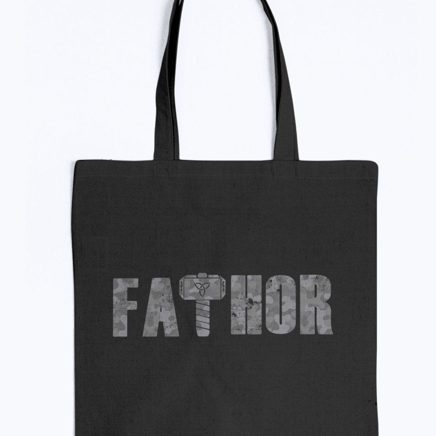 Fathor Tote - Grey Camo Edition