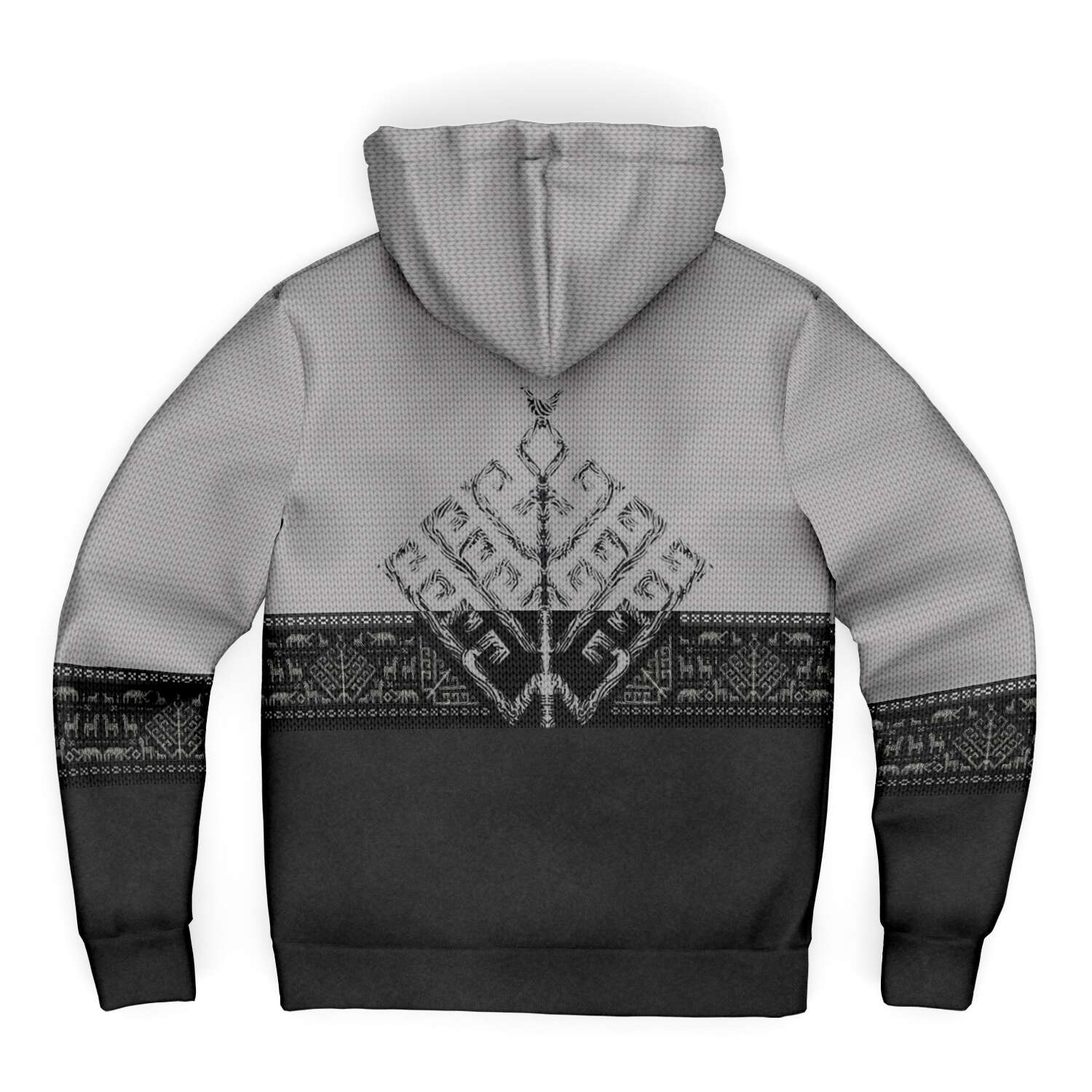 Folk Yggdrasil Premium Microfleece Zip-up Viking Hoodie