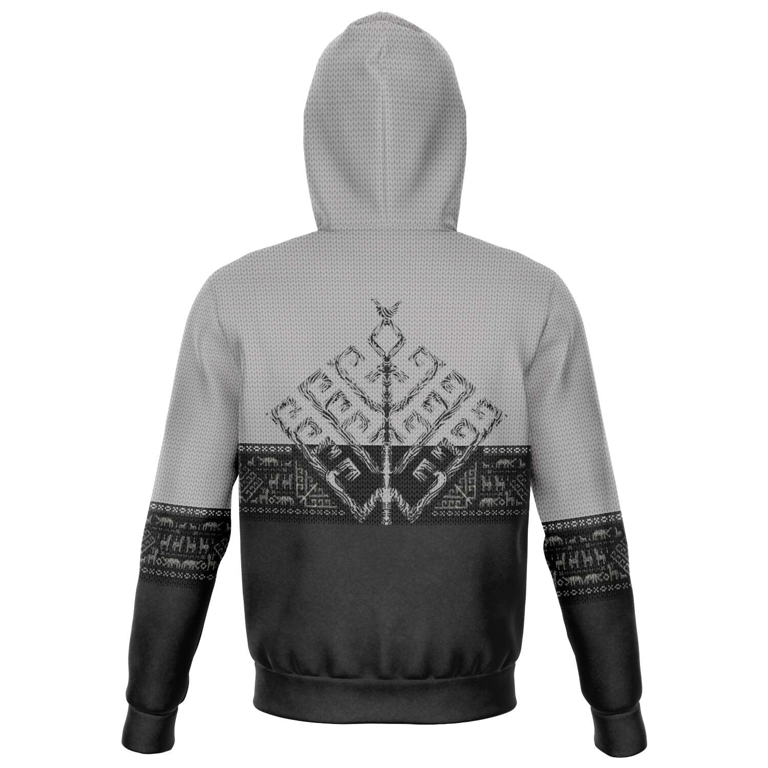 Folk Yggdrasil Premium Zip Hoodie for Vikings & Shieldmaidens