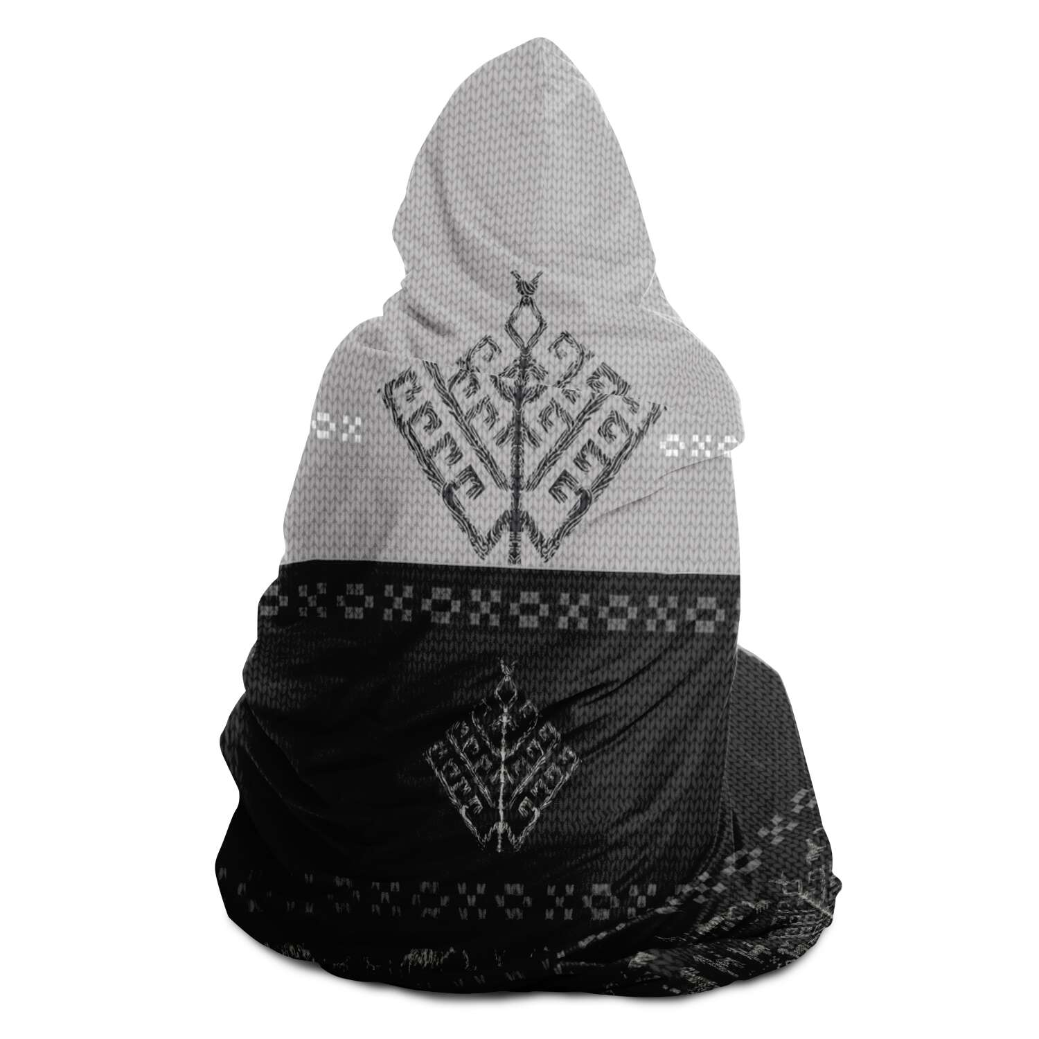 Folk Yggdrasil Viking Hooded Blanket