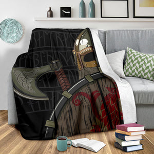 Viking Warrior Fleece Blanket - Viking Home Accessories - VikingsBrand