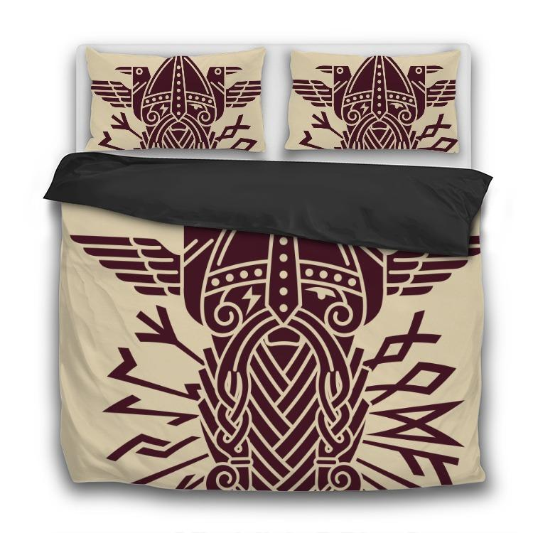 God Wotan - 3 Pcs Bedding Sets - VikingsBrand