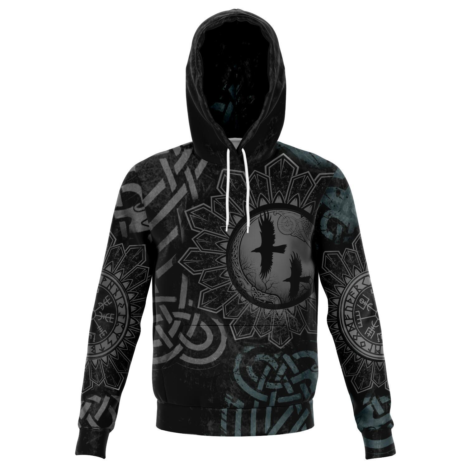 Huginn and Muninn Viking Hoodie