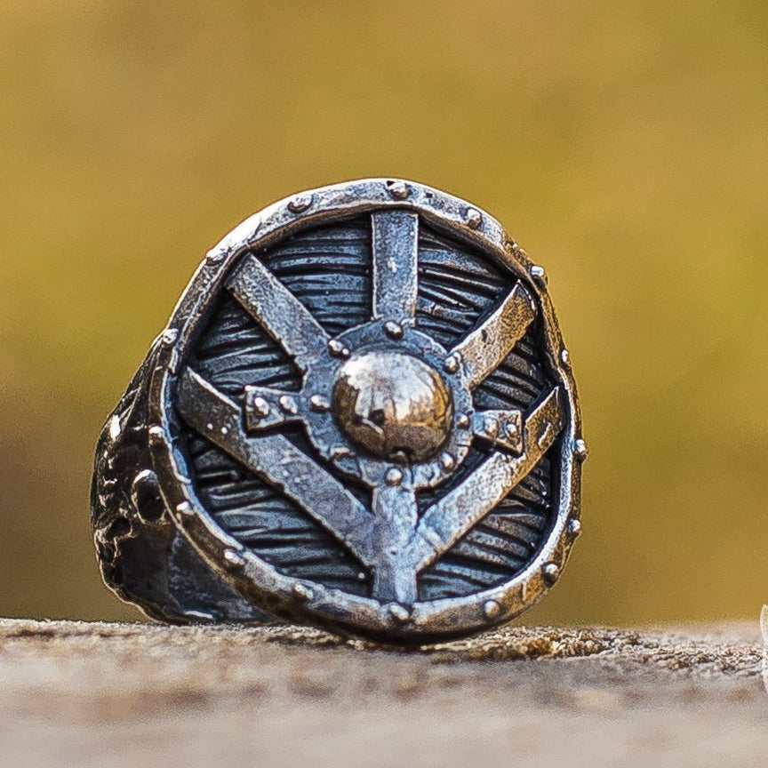 Lagertha's Shield 925 Sterling Silver Viking Ring