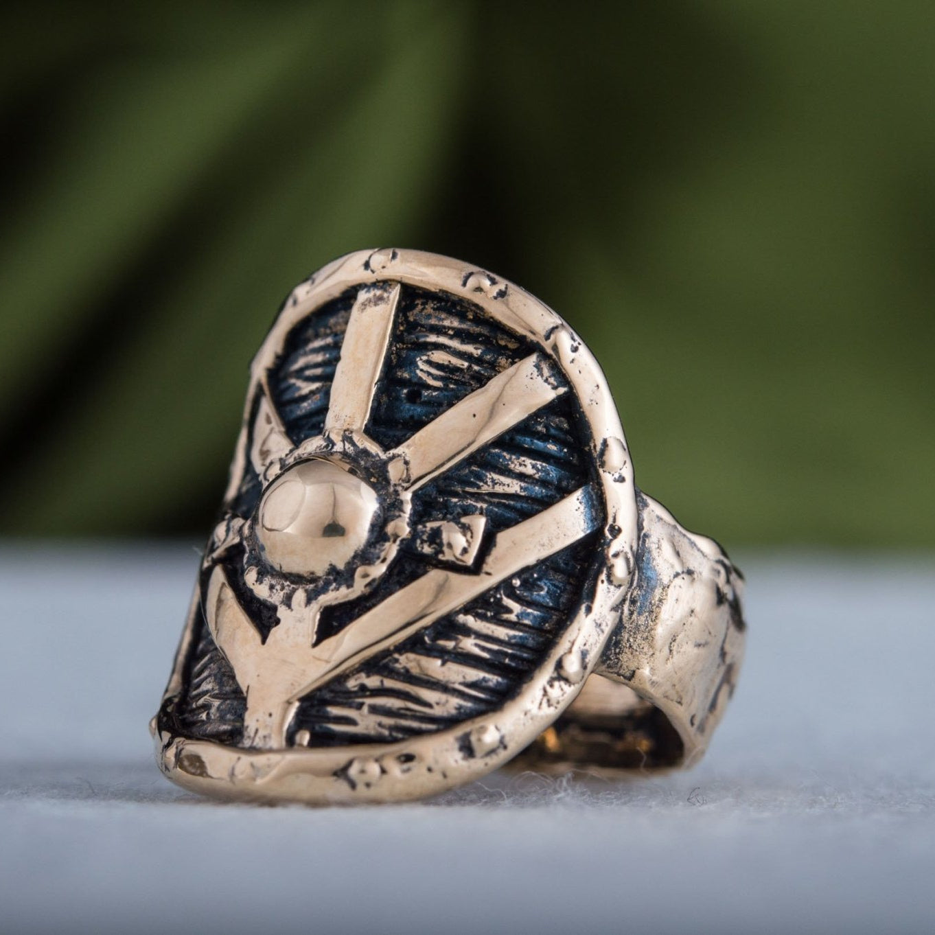 Lagertha's Shield Handcrafted Bronze Viking Ring