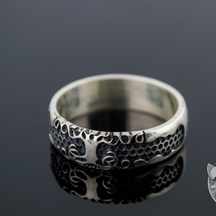 Little Yggdrasil Symbol 925 Sterling Silver Viking Ring - VikingsBrand