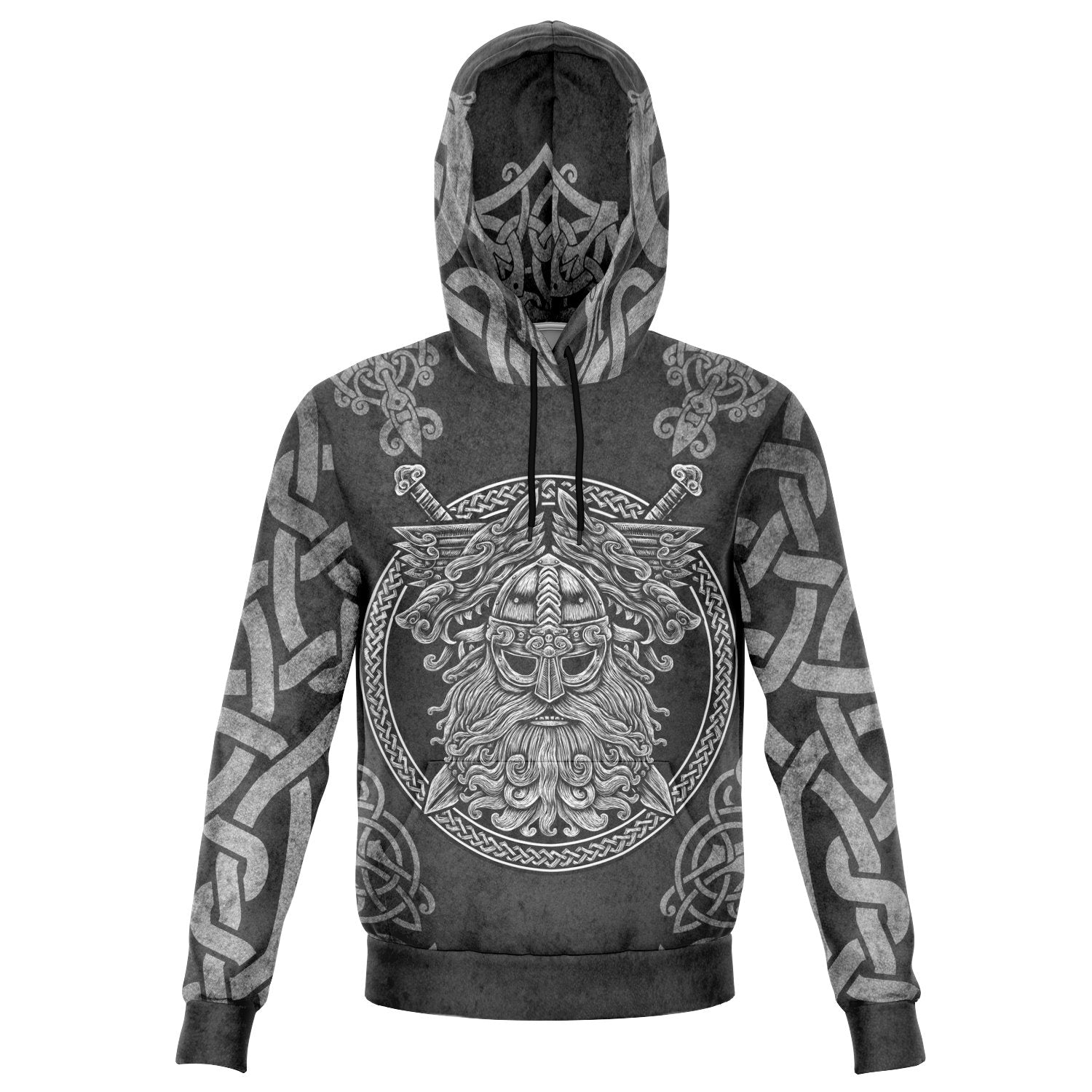 Nordic Norse Vikings God Odin with Geri & Freki Inspired Hoodie - Style 005
