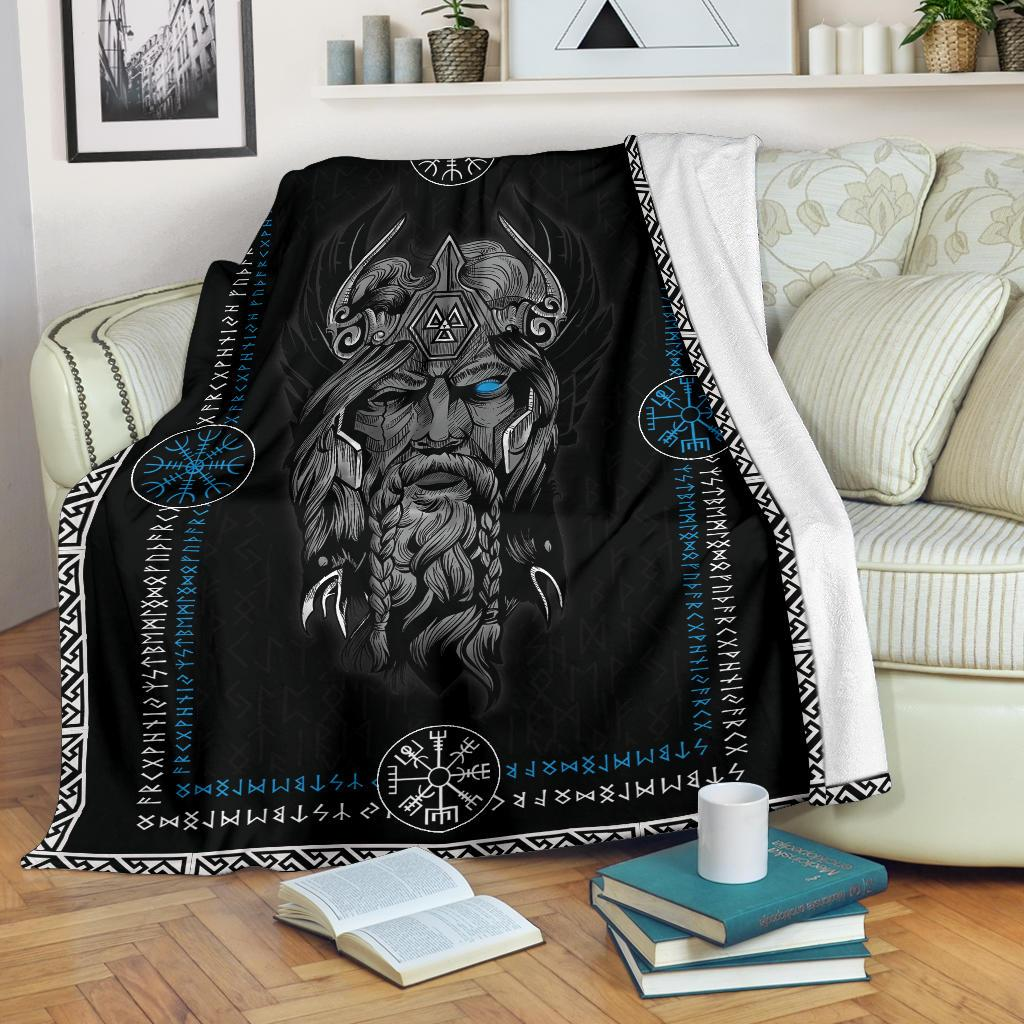 Norse God Odin Fleece Blanket - VikingsBrand