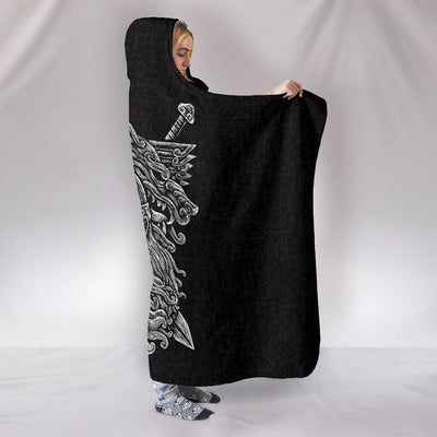 Norse God Odin Hooded Blanket - VikingsBrand