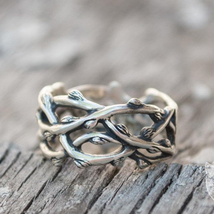 Norse Plexus Branches 925 Sterling Silver Viking Ring