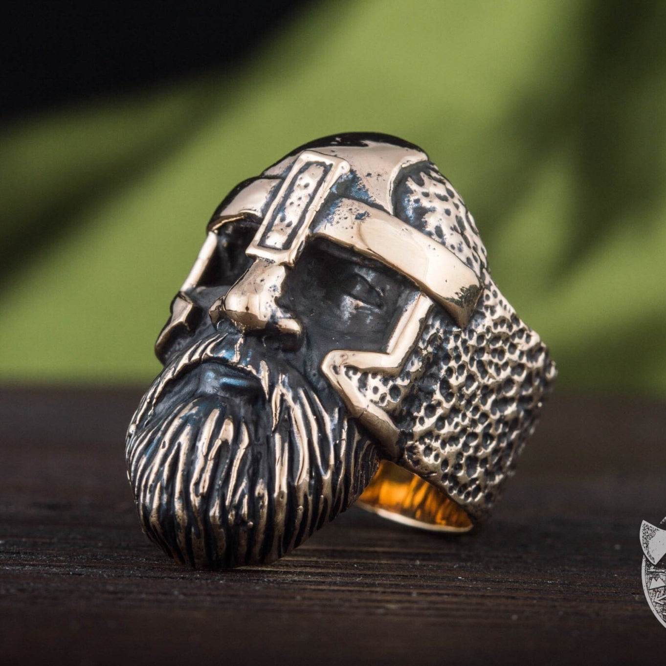 Odin Allfather Handcrafted Viking Bronze Ring