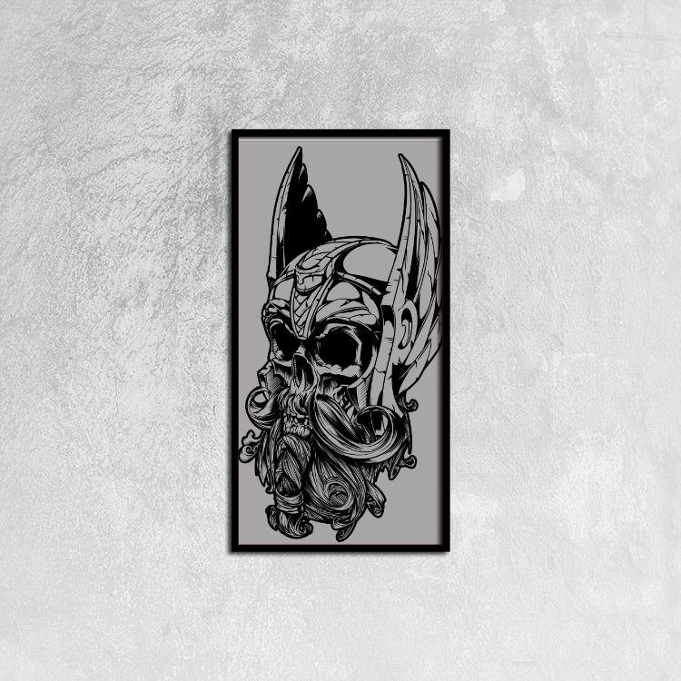 Odin Ready to Hang Wall Art, 12ⅹ24 inch - VikingsBrand