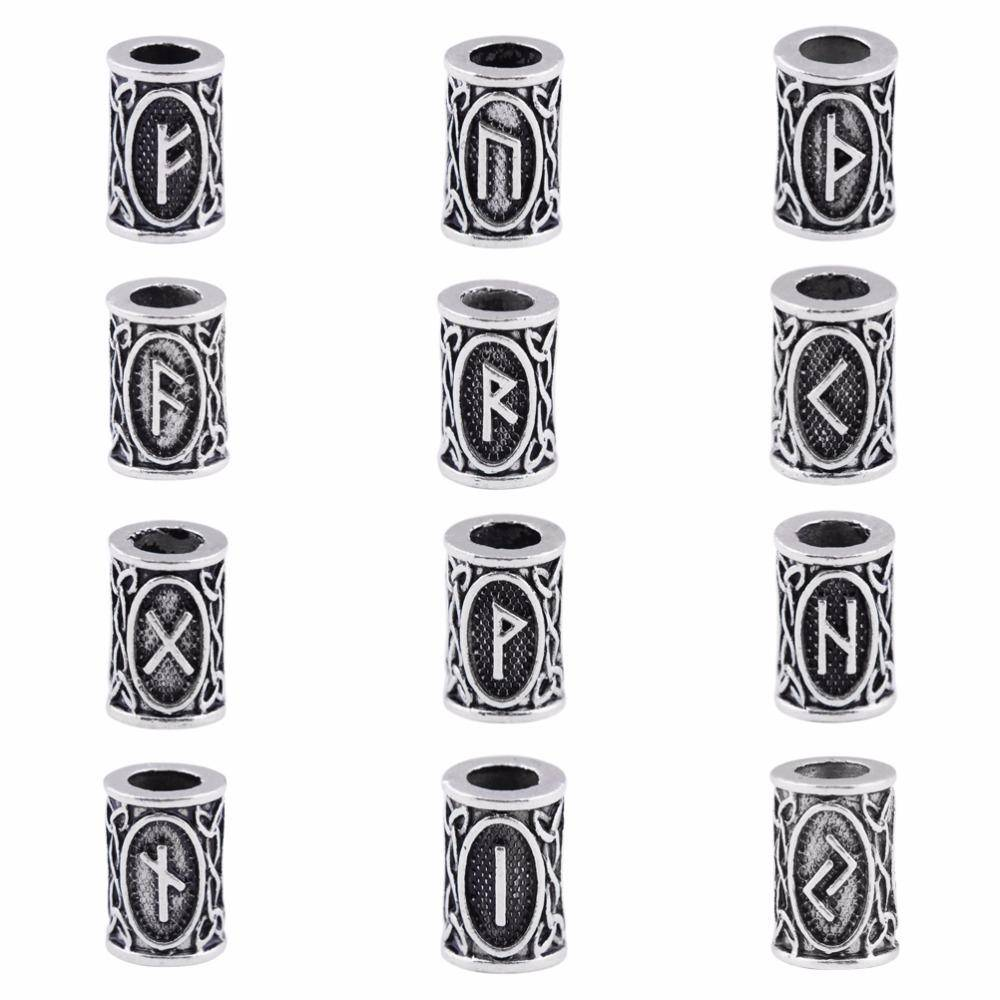 24 Stainless Steel Pieces Rune Bead Set - VikingsBrand