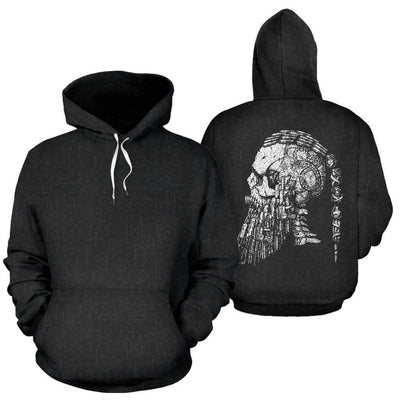 Ragnar's Head All Over Hoodie - VikingsBrand