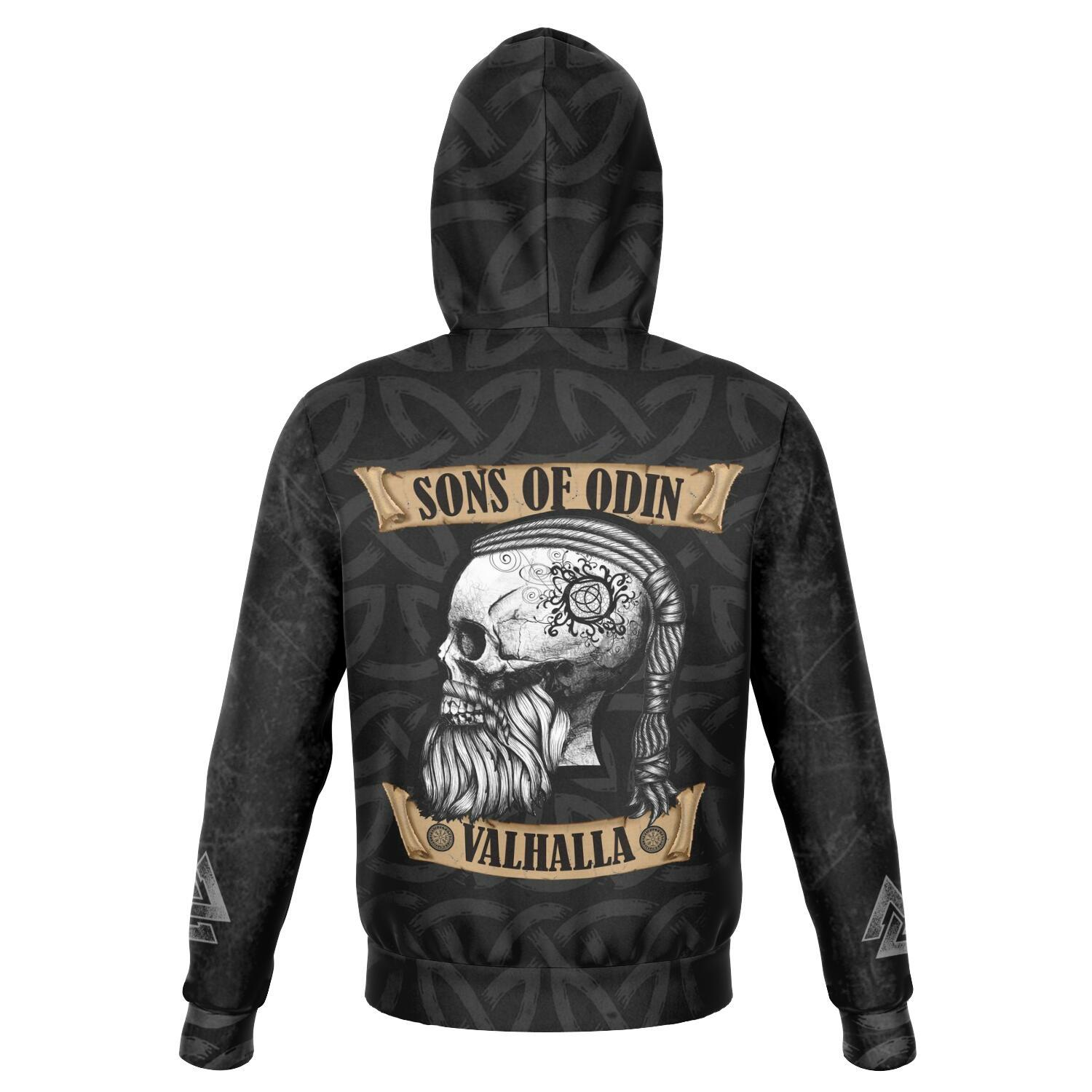 Sons of Odin, Valhalla - Ragnar Head Unisex Hoodie