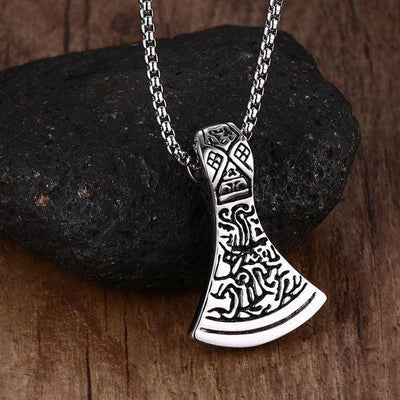 Stainless Steel Odin Necklace - VikingsBrand