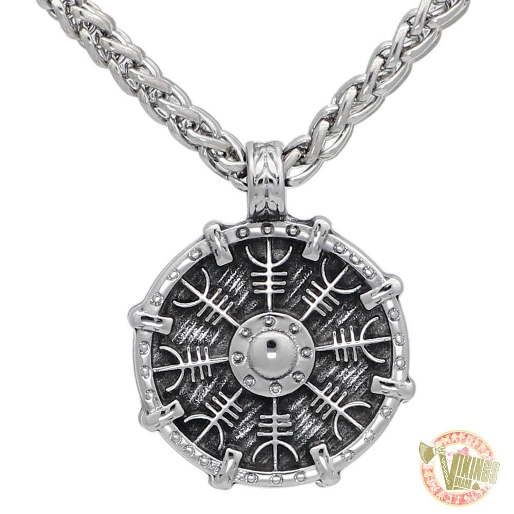 Stainless Steel Viking Shield Necklace - VikingsBrand