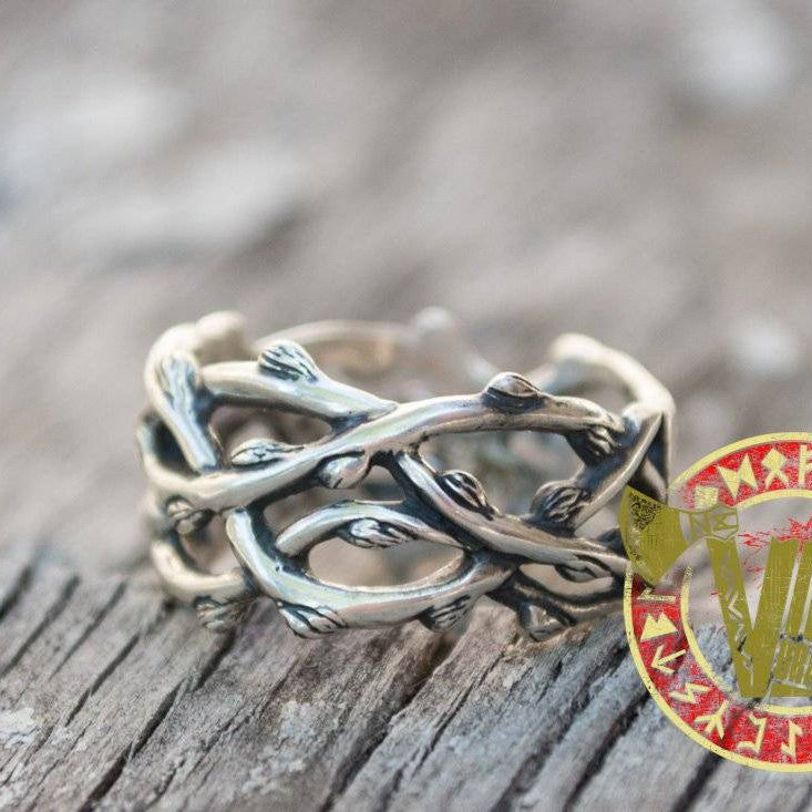 Sterling Silver Plexus Branches Ring